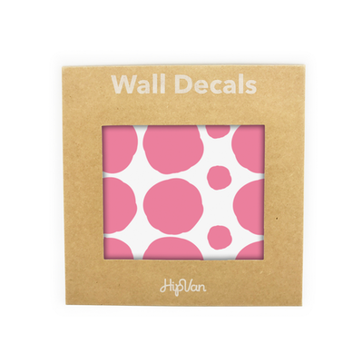 Polka Dot Wall Decal Pack (Pack of 54) - Pink