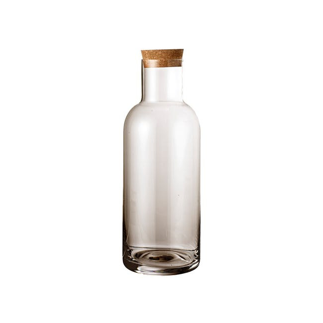 Carboy Wide Bottle with Lid - Brown (Tall) - 0