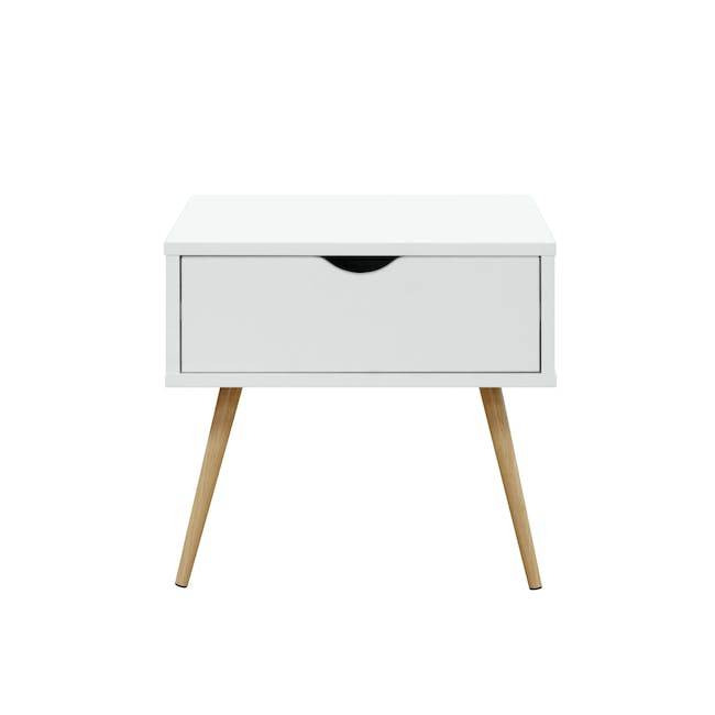 Hiro Super Single Platform Bed with 1 Dallas Bedside Table - 13