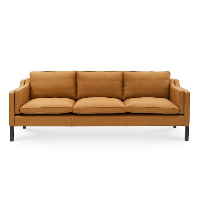 Borge Mogensen 2213 3 Seater Sofa Replica - Tan (Genuine Cowhide) - 0
