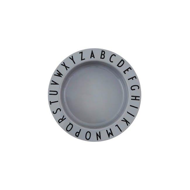 Eat & Learn deep plate tritan - Grey - 0