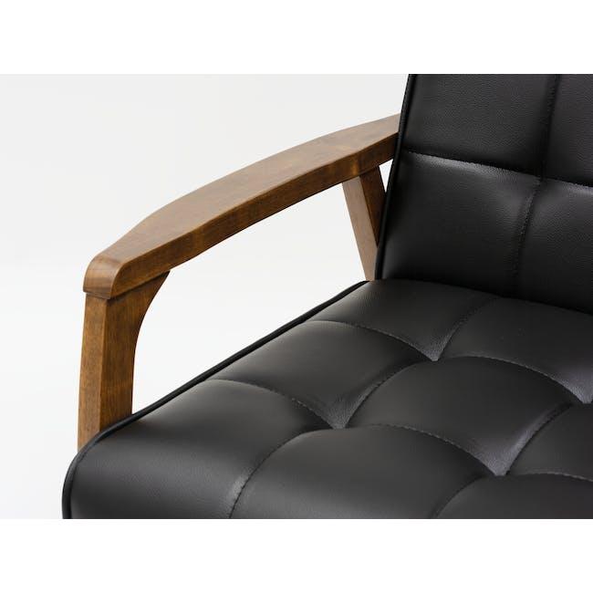 Tucson 2 Seater Sofa - Cocoa, Espresso (Faux Leather) - 6
