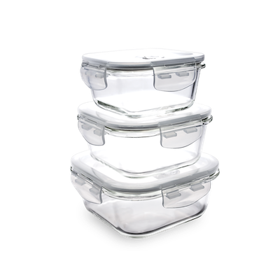 PICNIC Square Glass Food Storage with Lid - 800 ml - Image 2