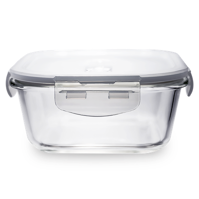 PICNIC Square Glass Food Storage with Lid - 800 ml - Image 1
