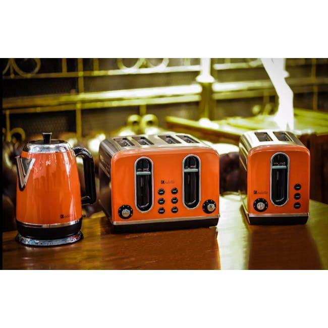 Odette Streamline 2-Slice Bread Toaster - Orange - 4