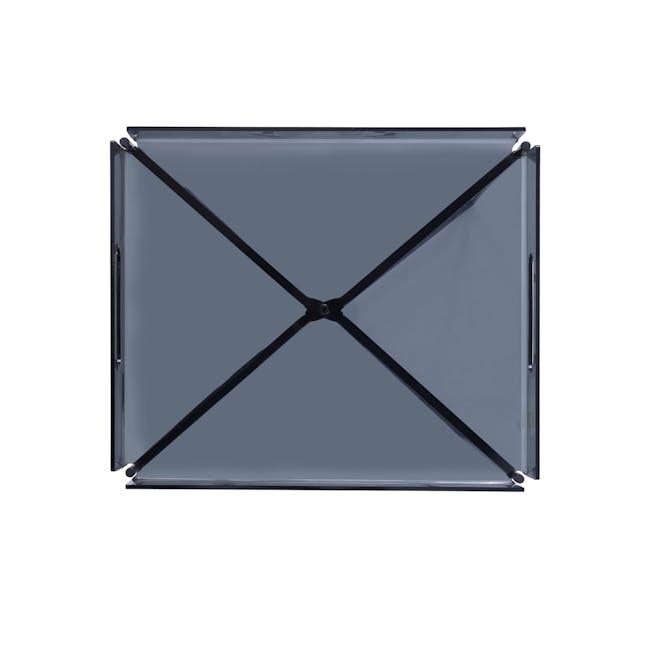 Campbell Occasional Table - Black Acrylic, Iridium - 2