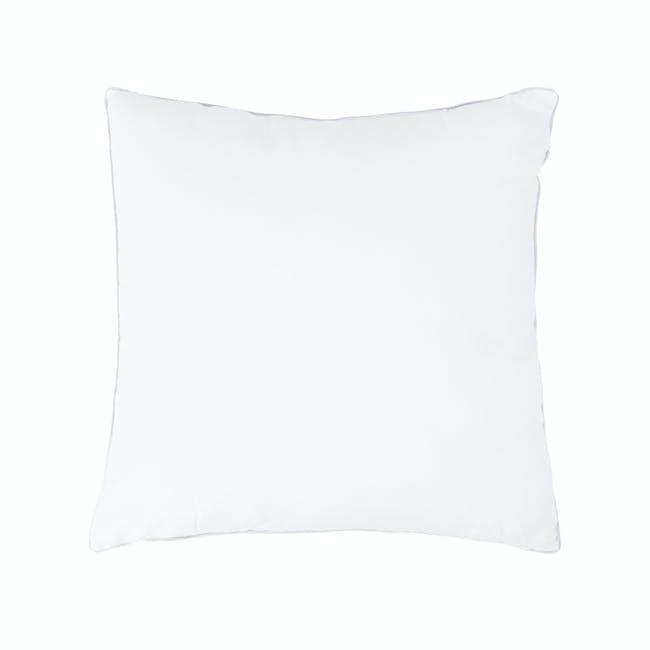 Pencil Stripe Plush Cushion - Mint - 1