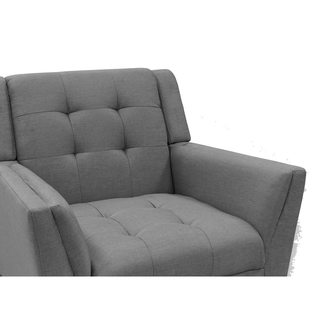 Stanley 2 Seater Sofa with Stanley Armchair - Siberian Grey - 13