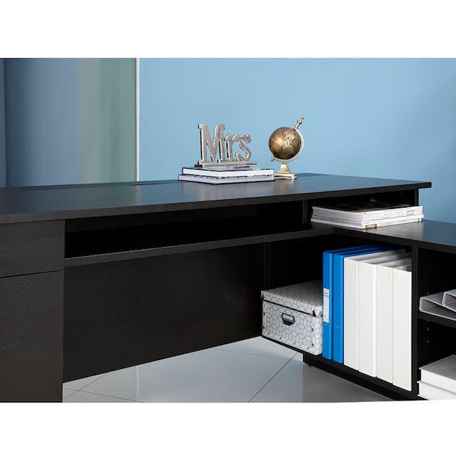 Leon Corner Study Table 1.6m - Black Brown - 8