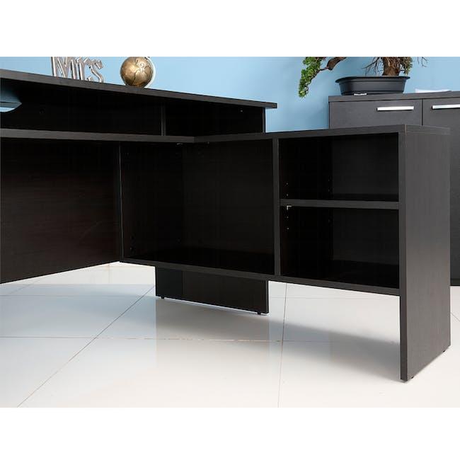 Leon Corner Study Table 1.6m - Black Brown - 11