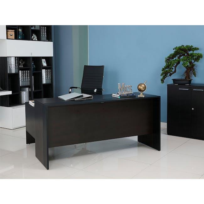 Leon Corner Study Table 1.6m - Black Brown - 10