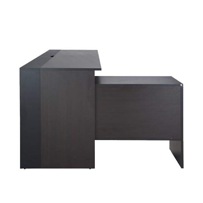 Leon Corner Study Table 1.6m - Black Brown - 14