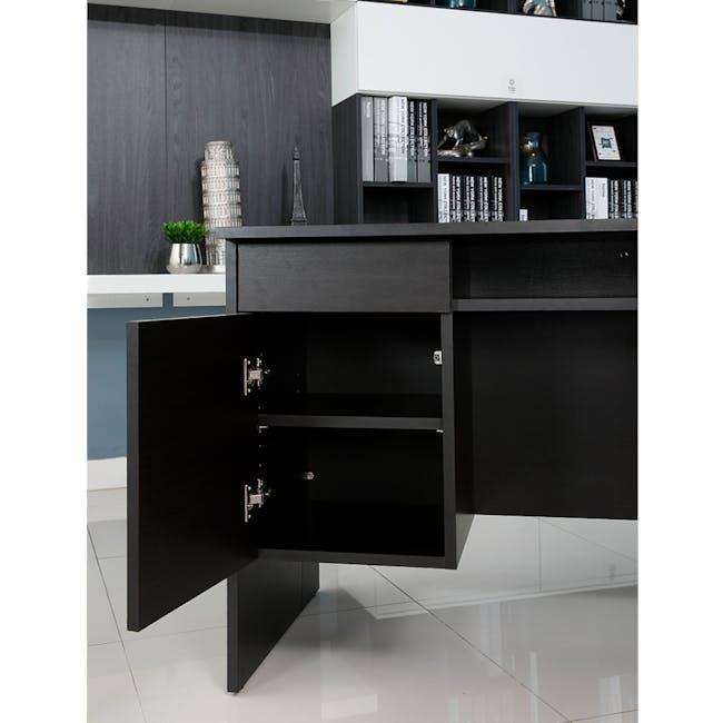 Leon Corner Study Table 1.6m - Black Brown - 5