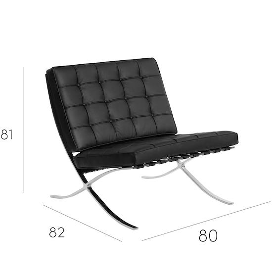 modern classics barcelona chair italian leather hipvan. Black Bedroom Furniture Sets. Home Design Ideas