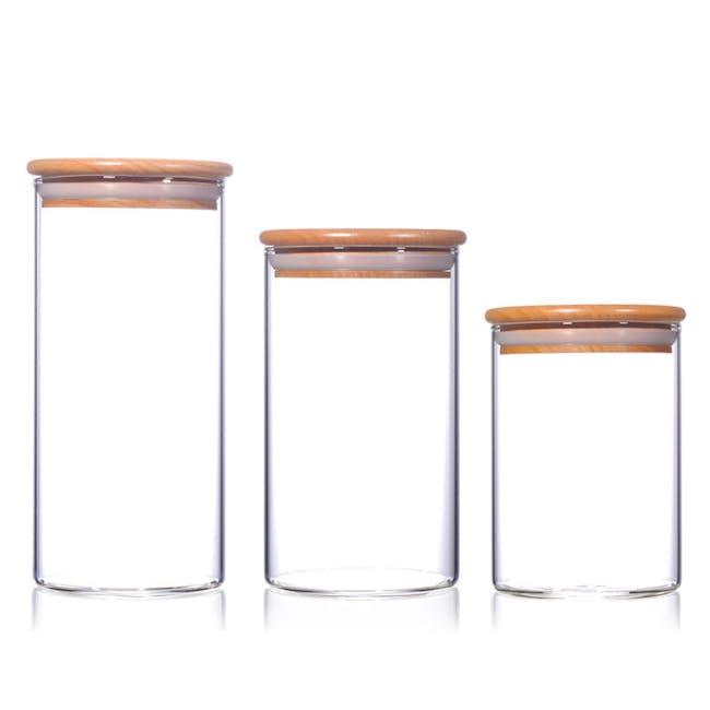 Wooden Lid Storage (Set of 3) - 0