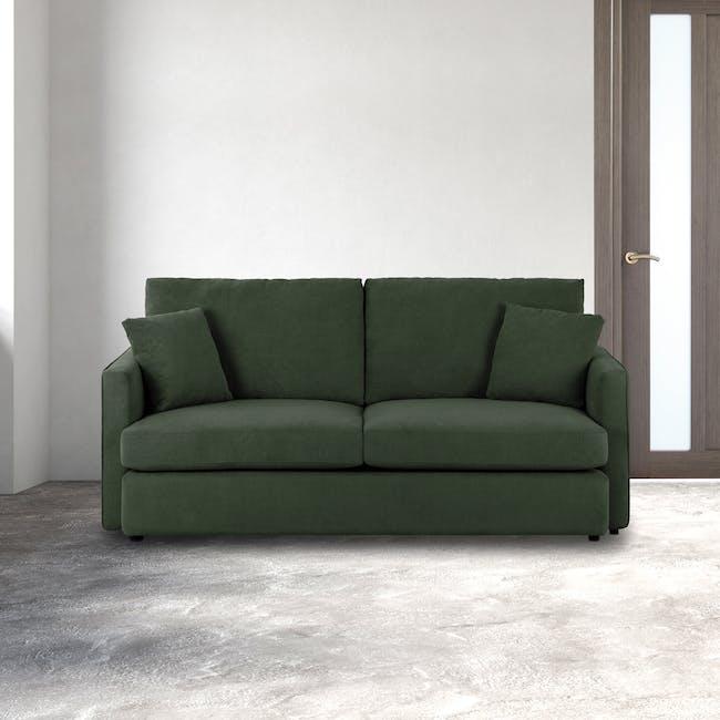 Ashley 3 Seater Lounge Sofa - Olive - 1