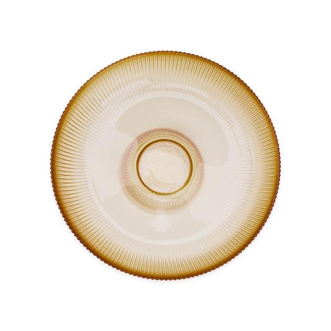Reagan Glass Fruit/Display Bowl - Amber - Large - 5
