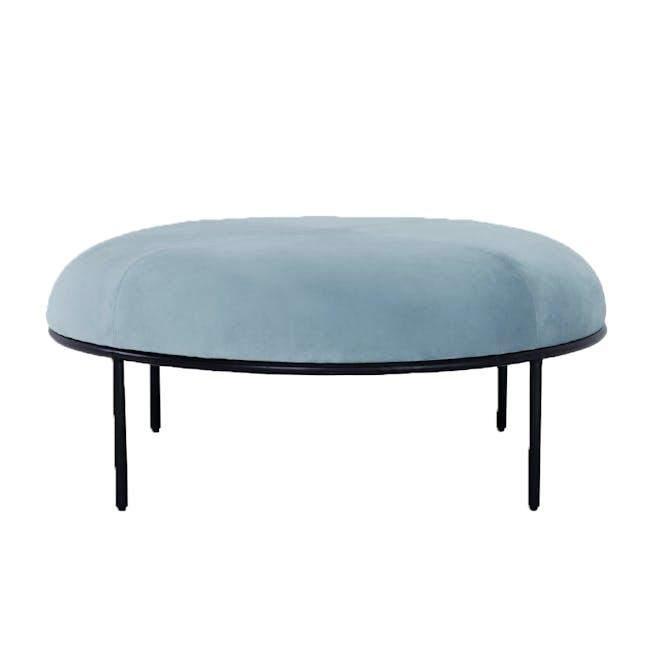 Braton Lounge Chair with Amos Round Ottoman - Jade (Velvet) - 4