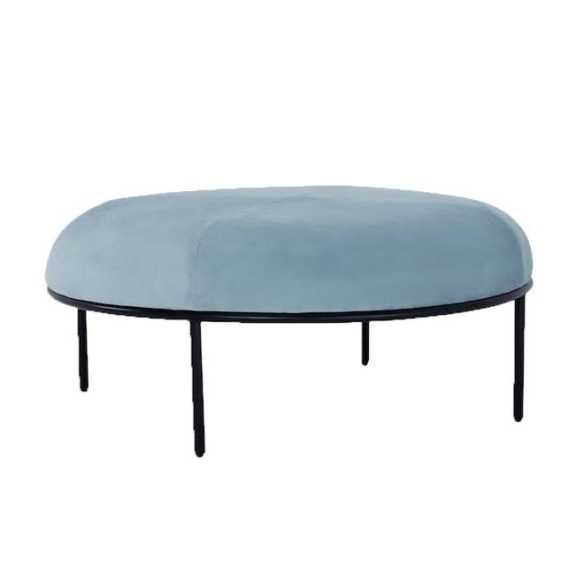 Braton Lounge Chair with Amos Round Ottoman - Jade (Velvet) - 5