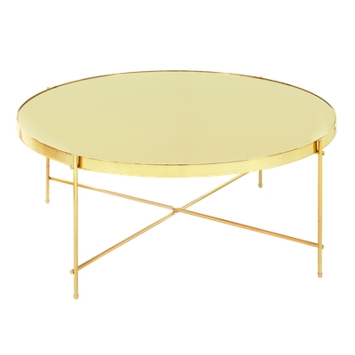 Chloe Round Coffee Table - Champagne - Image 1