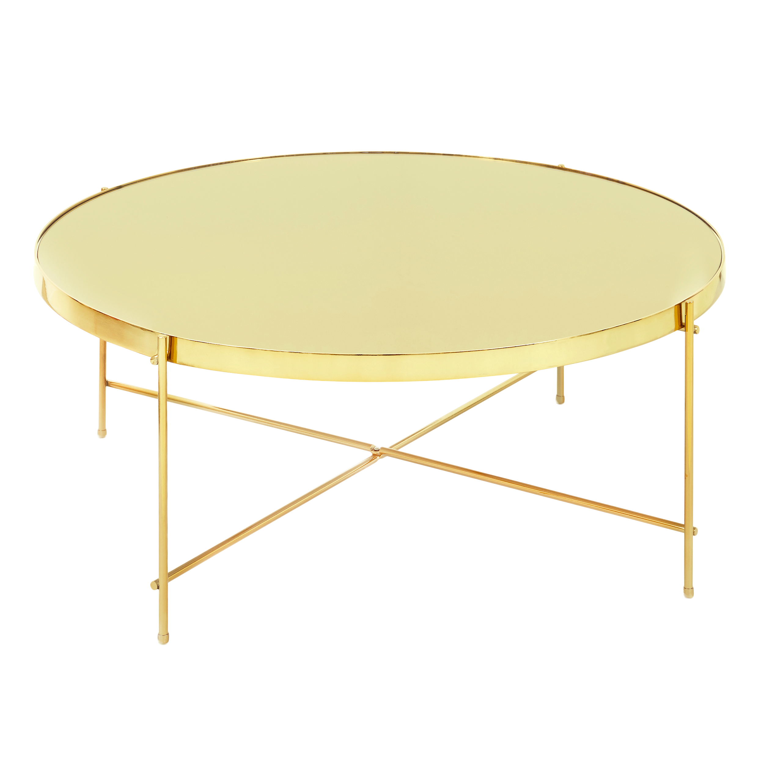 Chloe Round Coffee Table   Champagne