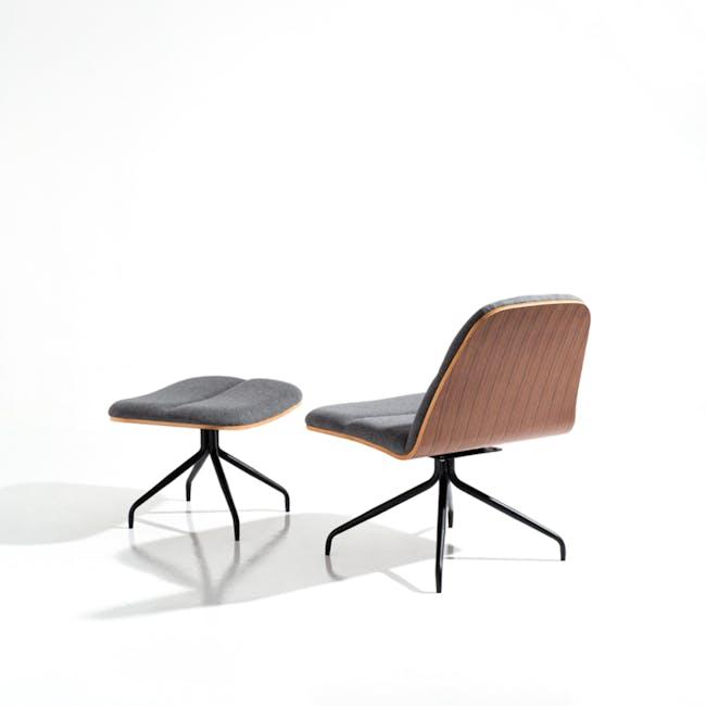 Crown Swivel Lounge Chair - Battleship Grey - 6