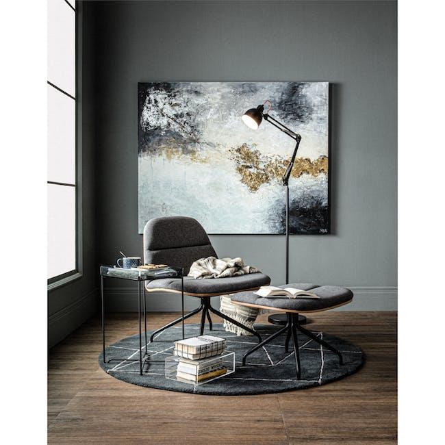 Crown Swivel Lounge Chair - Battleship Grey - 1