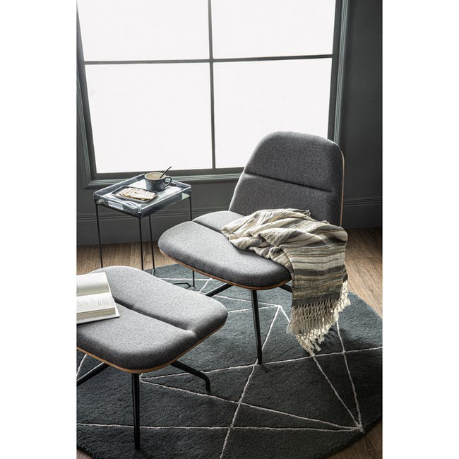 Crown Swivel Lounge Chair - Battleship Grey - 2