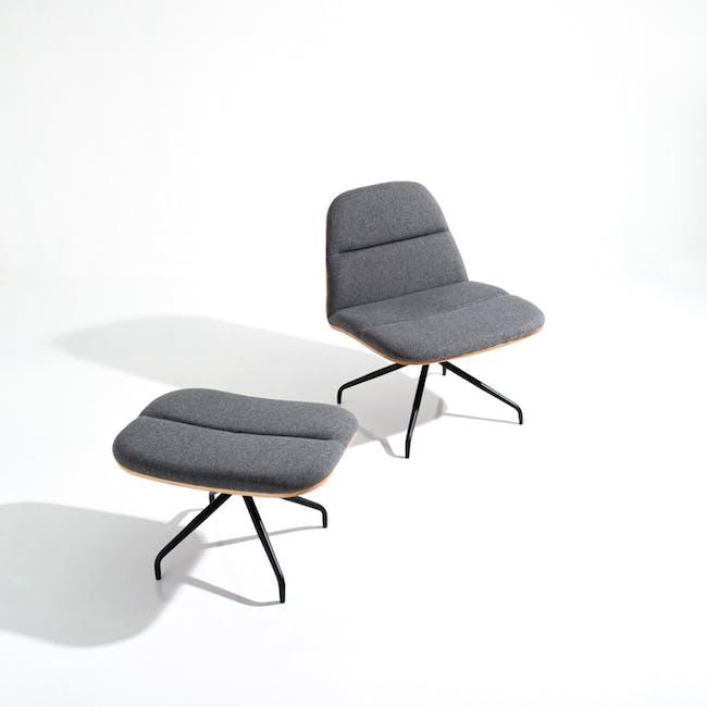 Crown Swivel Lounge Chair - Battleship Grey - 5