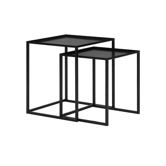 Luso Nesting Table - Matte Black - 0