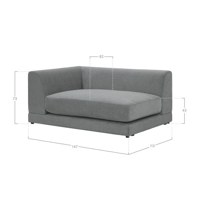 Abby L-Shaped Lounge Sofa - Olive - 9