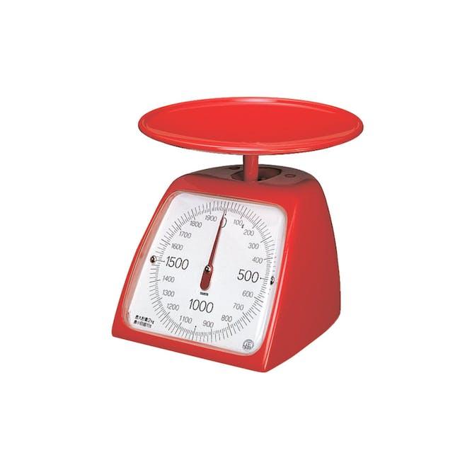 Tanita Mechanical Kitchen Scale 2kg - Red - 0