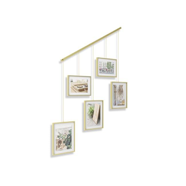 Exhibit 5 Frames Photo Display - Brass - 1
