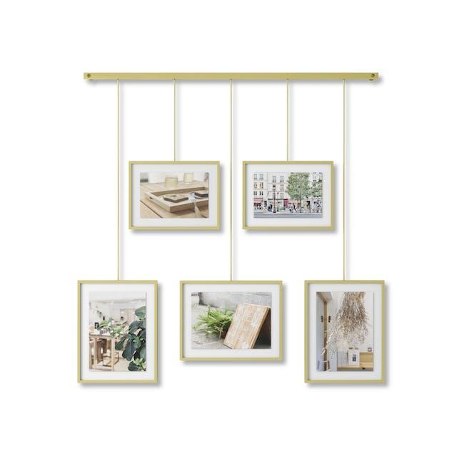 Exhibit 5 Frames Photo Display - Brass - 0