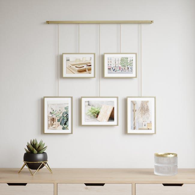 Exhibit 5 Frames Photo Display - Brass - 6