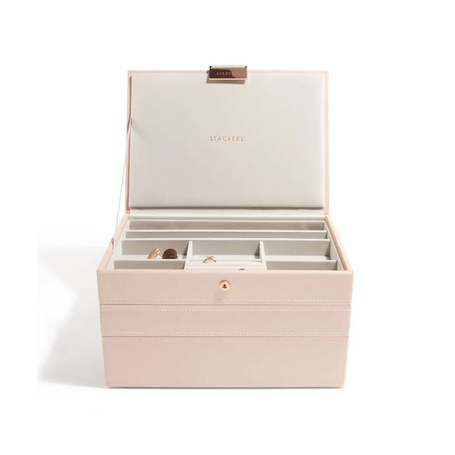 Stackers 3-in-1 Classic Jewellery Box - Blush - 0