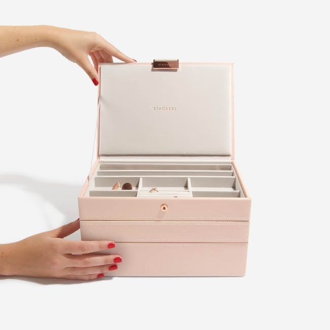 Stackers 3-in-1 Classic Jewellery Box - Blush - 3