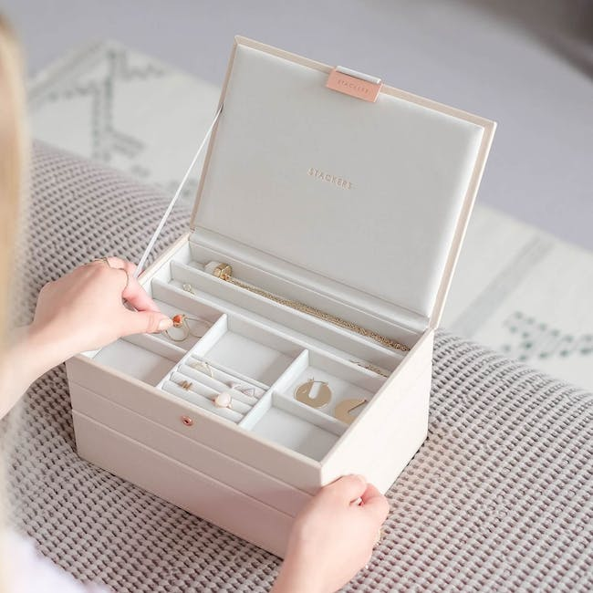 Stackers 3-in-1 Classic Jewellery Box - Blush - 2