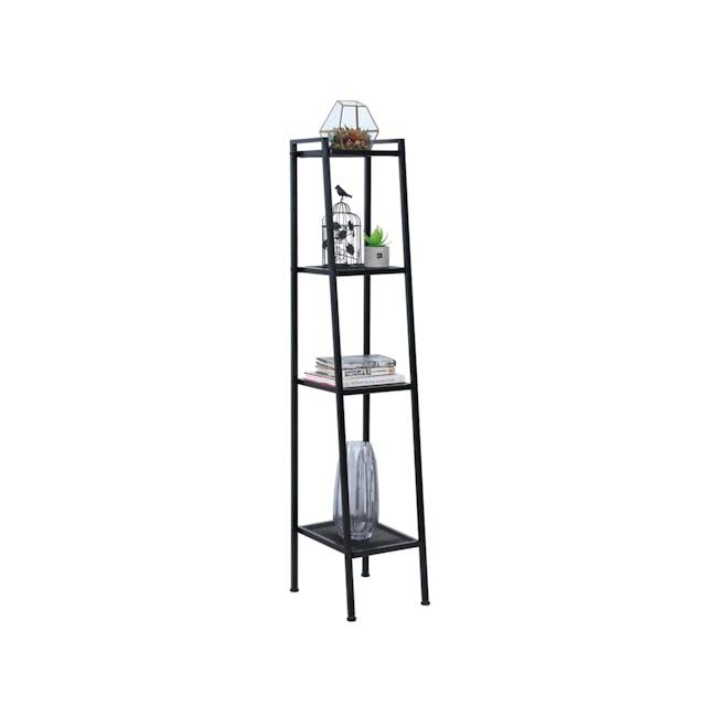 Kingston 4-Tier Shelf 40cm - Black - 1