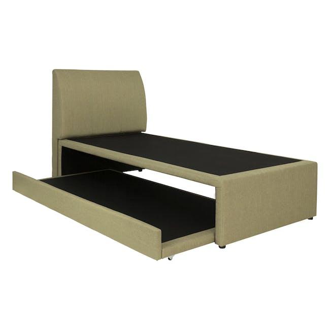 ESSENTIALS Super Single Trundle Bed - Khaki (Fabric) - 4