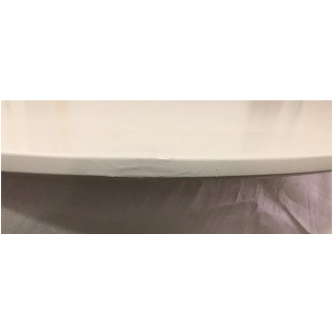 (As-is) Carmen Round Dining Table 1m - White - 14 - 7