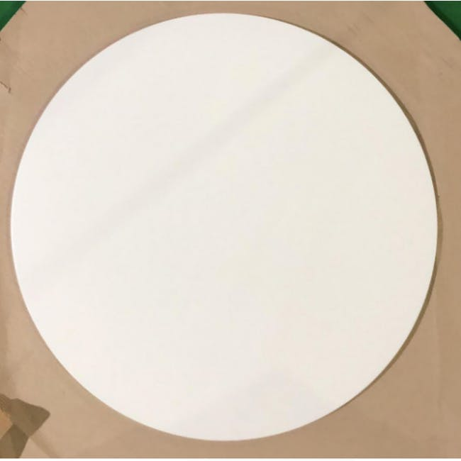 (As-is) Carmen Round Dining Table 1m - White - 14 - 2