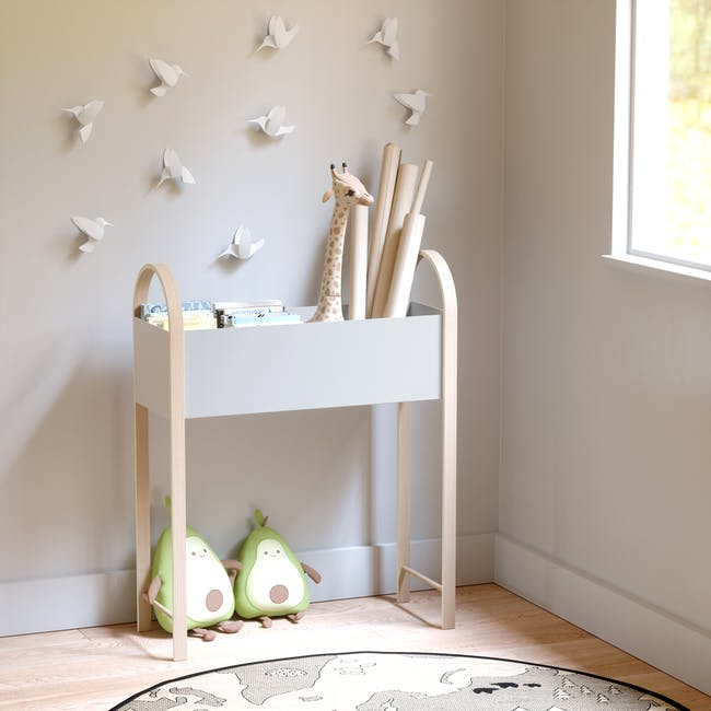 Grove Planter with Storage - White, Natural - 9