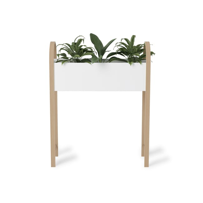 Grove Planter with Storage - White, Natural - 1