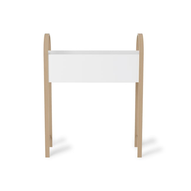 Grove Planter with Storage - White, Natural - 4