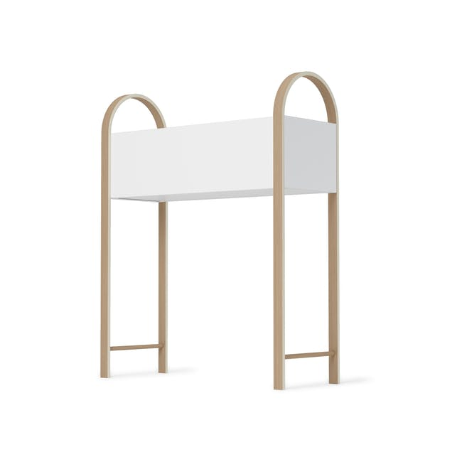 Grove Planter with Storage - White, Natural - 3