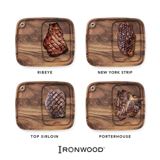 Ironwood Cow Engraved Steak BBQ Plate w/ Juice Channel - 3