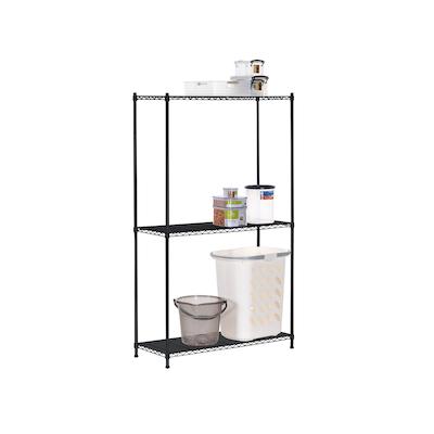 3-Tier Multi Utility Shelf L90 cm - Black - Image 2