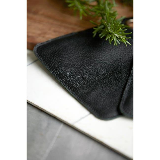 Daniel Leather Potholders - Black (Set of 2) - 2