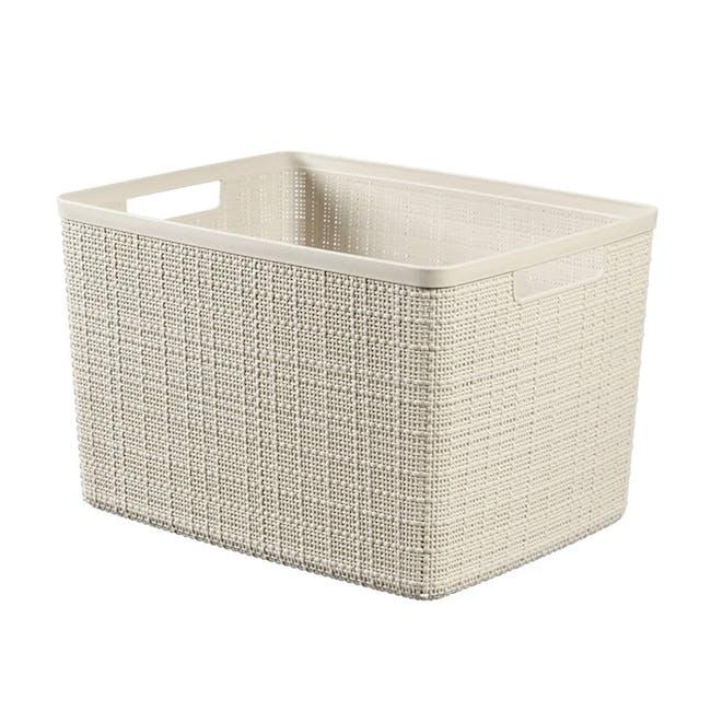 Jute Basket - Off White (3 Sizes) - 3